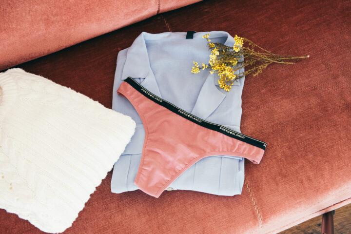 Bodegón lencería rosa
