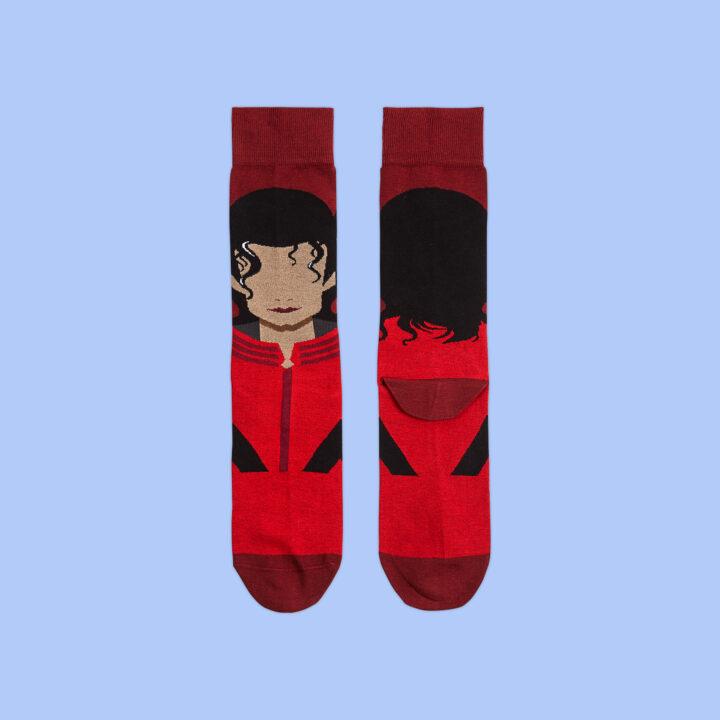 Calcetines ilustrados Michael Jackson