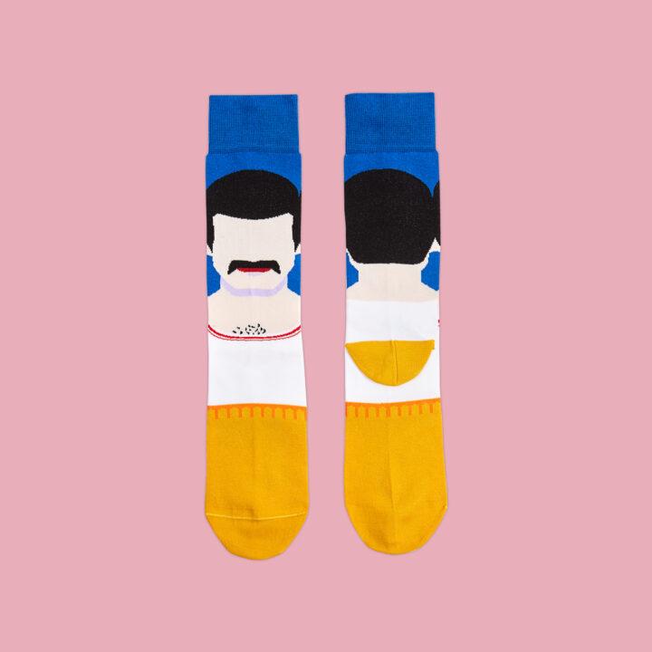 Calcetines ilustrados Freddie Mercuri