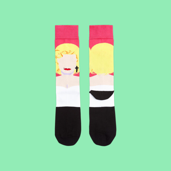 Calcetines ilustrados Marilyn Monroe