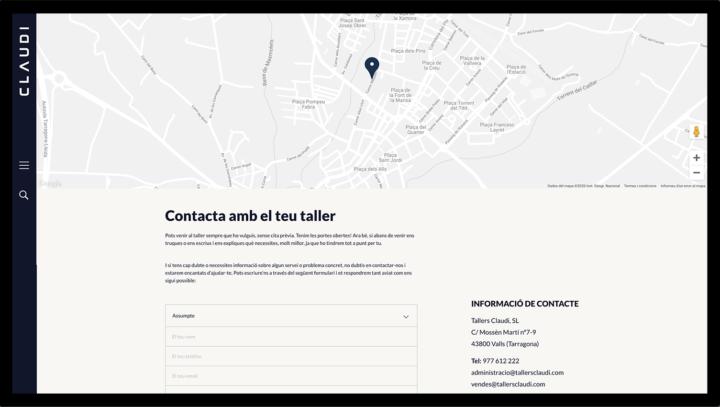 Diseño página contacto