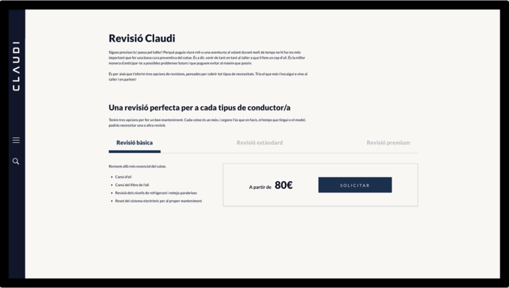 Diseño página revisión