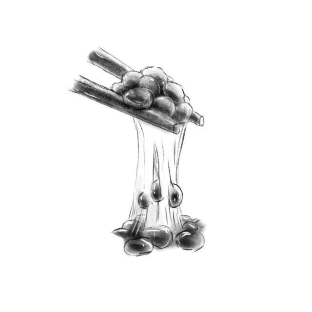 Ilustración natto