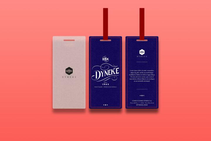 Diseño etiqueta ropa Dyneke